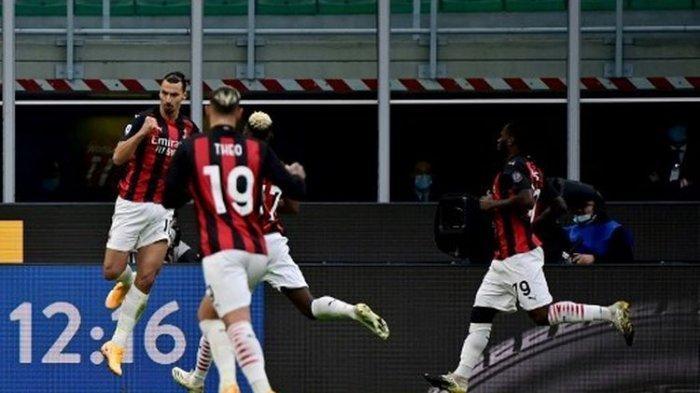 Sukses Sapu Bersih Empat Laga Pertama, Milan Bekuk Inter dengan Skor Tipis, Zlatan Borong Gol