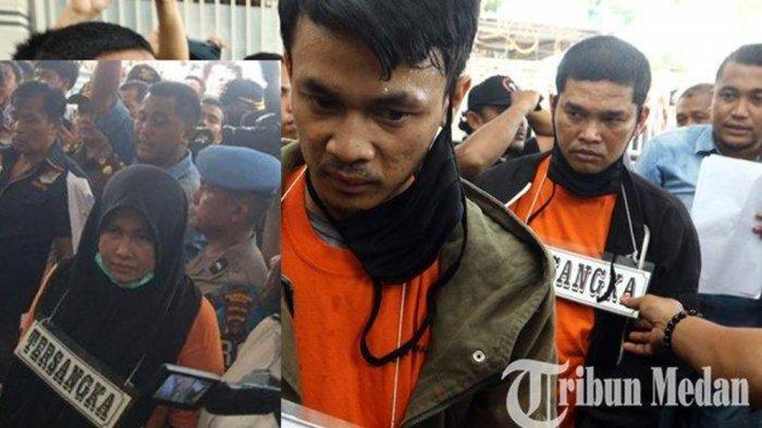 Zuraida Hanum, M Jefri Pratama dan M Reza Fahlevi. Terdakwa atau Pelaku Pembunuhan Hakim PN Medan, Jamaluddin.