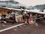 Kecelakaan Pesawat di Bandara Ilaga Senin (25/10/21), Pilot Meninggal Dunia, Bangkai Pesawat Hancur