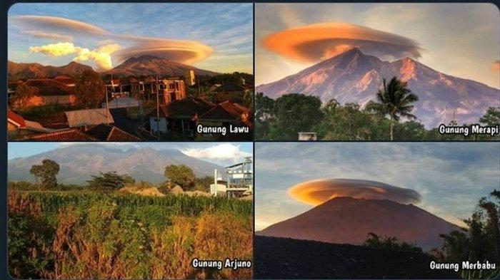 Viral Fenomena 4 Gunung yang Dikelilingi Awan Berbentuk Topi, Ini Penjelasannya