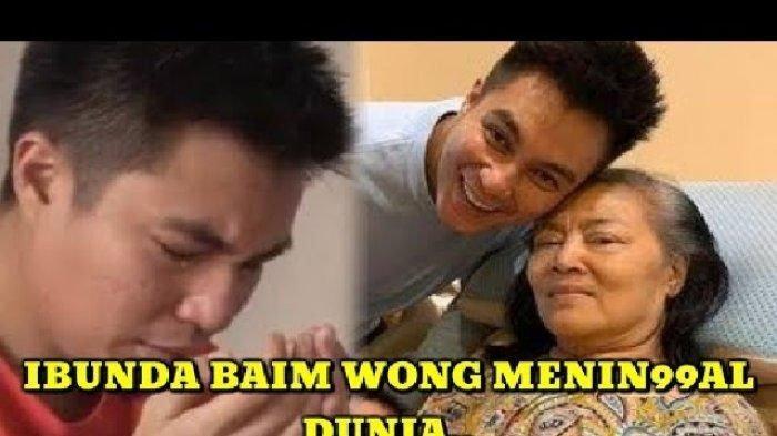 Derai Air Mata Baim Wong Saat di Pemakaman Ibunda Tercinta 'Saya Seperti Tidak Kehilangan Dia'