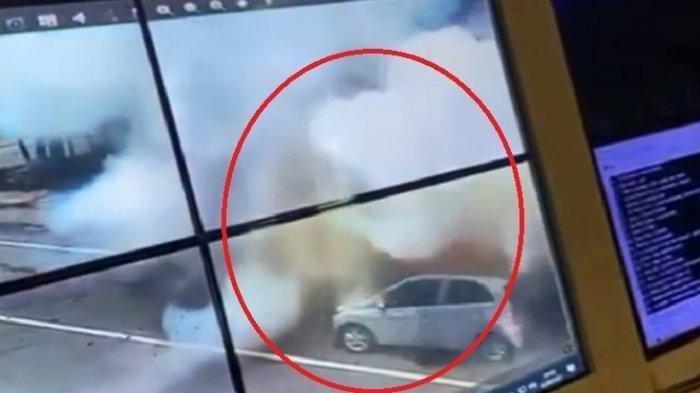 CCTV bom meledak di Gereja Katedral Makassar
