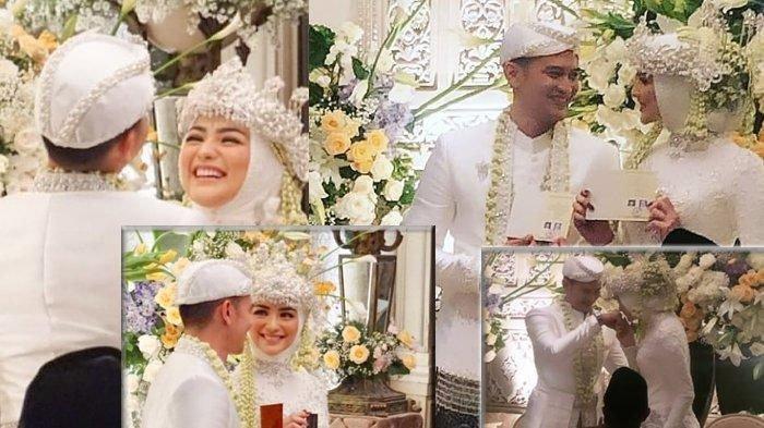 Citra Kirana dan Rezky Aditya di momen pernikahan mereka.