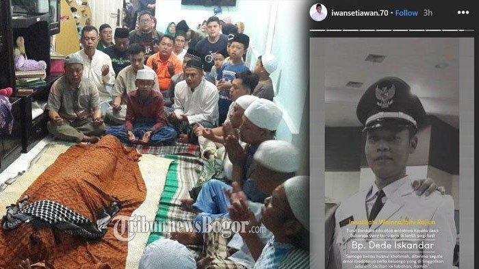 Baru 7 Jam Menjabat Kepala Desa Bogor, Dede Iskandar Ambruk & Meninggal Dunia, Ini Detik-detiknya