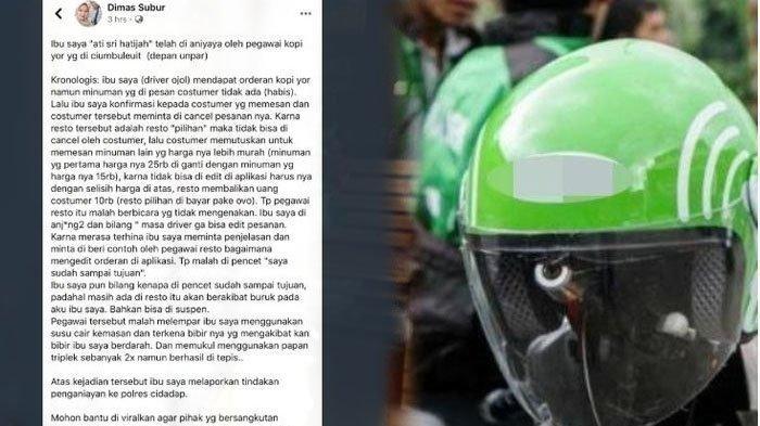 Sempat Ditangkap Polisi, Pegawai Kopi Pelaku Pelemparan Susu ke Driver Ojol Akhirnya Dibebaskan