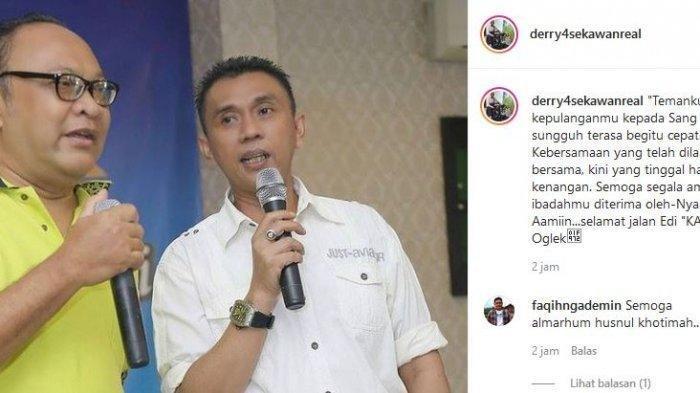 Edy Oglek Pemain Sinetron 'Tukang Bubur Naik Haji' Meninggal Terpapar Covid-19 : Selamat Jalan Bang