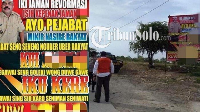 Kesal Warga Dilarang Hajatan, Kades di Sragen Pasang Baliho Maki Pemerintah: 'Pikirkan Nasib Rakyat'