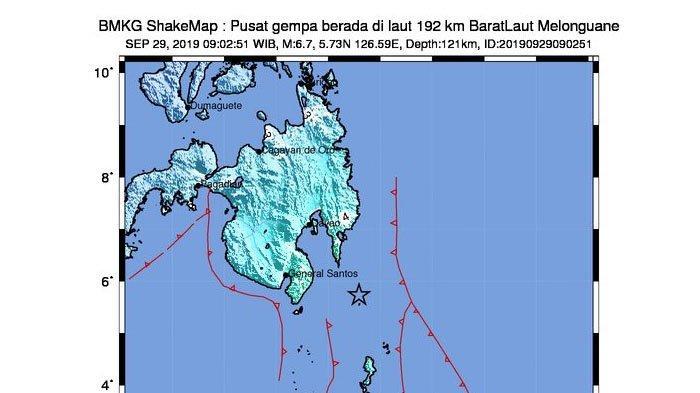 Gempa Hari Ini Minggu 29 September 2019 Guncang Melonguane Sulut, 6,7 SR Tak Potensi Tsunami