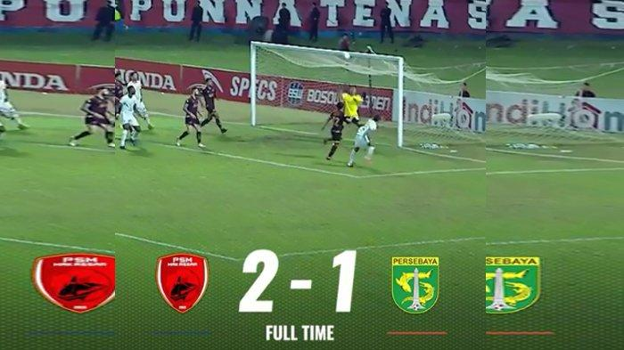 Hasil Akhir Skor PSM Makassar vs Persebaya Surabaya Liga 1 2019, Juku Eja Menang Tipis