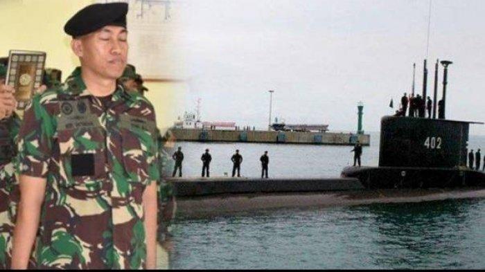Kolase foto saat Heri Oktavian dilantik menjadi Komandan KRI Nanggala-402 dengan sejumlah personel kapal selam tersebut saat akan bersandar di pelabuhan.