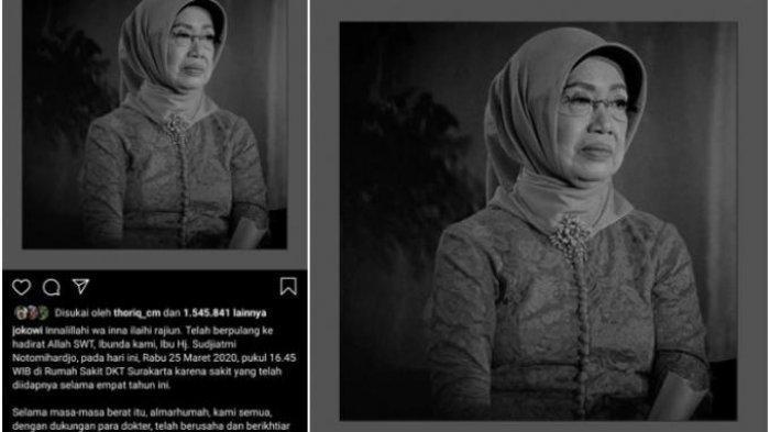 POPULER Tak Banyak yang Tahu Perjalanan Hidup Mendiang Ibunda Jokowi, Termasuk Hubungan dengan Anak