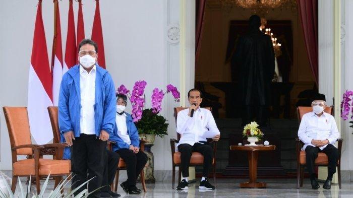 Presiden Jokowi mengumumkan reshuffle Kabinet Indonesia Maju, Selasa (22/13/2020). Ia memperkenalkan 6 menteri baru.