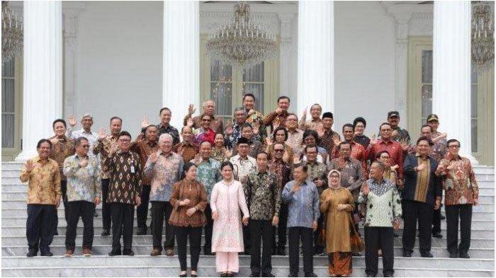 32 Nama Calon Menteri Kabinet Kerja Jilid 2 Jokowi-Ma'ruf, Pelantikan Hari Ini Pukul 10.00 WIB