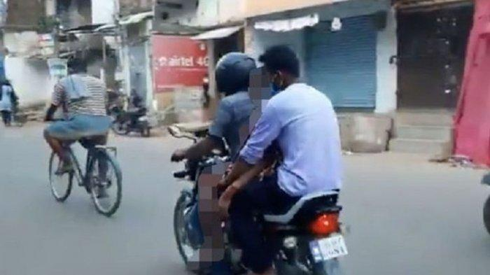Potret Ngerinya Covid-19 di India, Jenazah Ibu Positif Corona Diapit Naik Motor, Tak Ada Ambulans