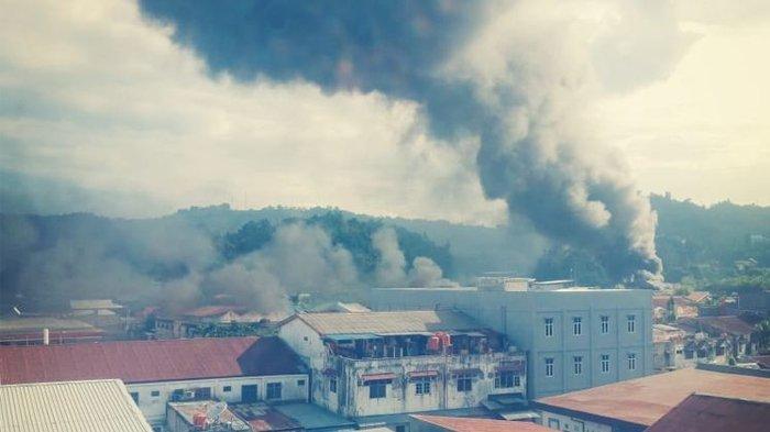 Papua Kembali Ricuh, Kerusuhan Pecah di Wamena Demonstran Bersikap Anarkis