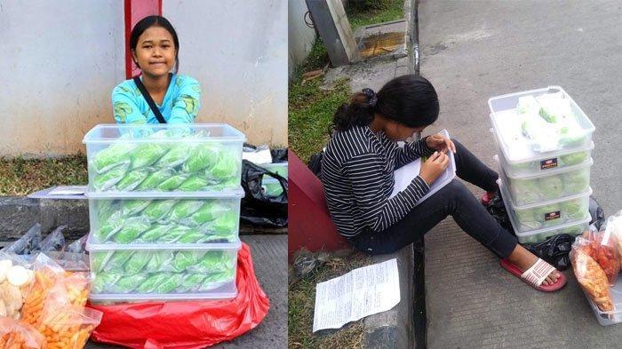 Viral Bocah SMP Kerjakan PR Nyambi Jualan Bakpau di Pom Bensin Tangerang Demi Bantu Nenek