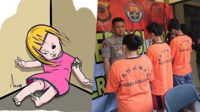 Terungkap Penyebab Ibu & 2 Anaknya Bunuh Bocah 5 Tahun di Sukabumi setelah Memperkosanya