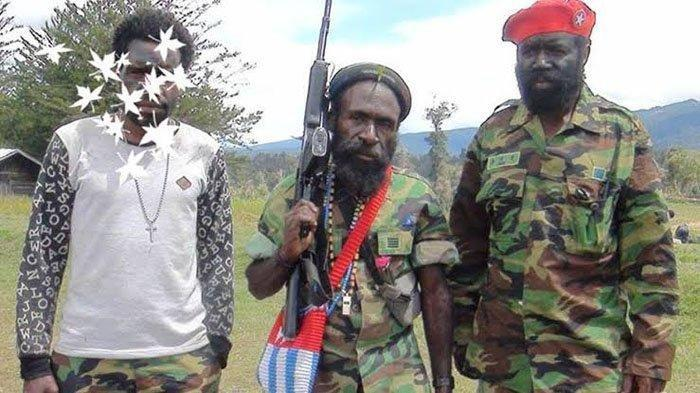 Lekagak Telenggen (tengah) pimpinan KKB Papua yang tembak mati Kepala BIN Daerah (Kabinda) Papua, Brigjen TNI Gusti Putu Danny Nugraha.