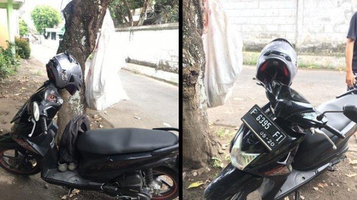 Kepergok & Saling Tatap dengan Korban saat Mencuri, Maling Panik Kabur Tinggalkan Motor & Sepatu