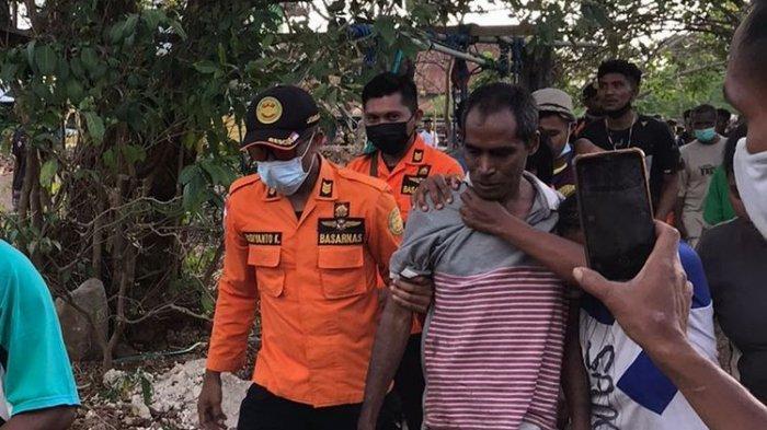 Maxi Neot, guru SMP di Rote Ndao, ditemukan selamat setelah tersesat di hutan.