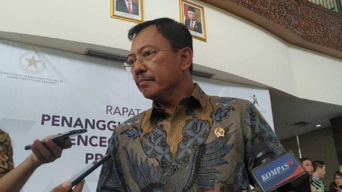 Menteri Kesehatan Terawan Agus Putranto di Grand Kebon Sirih, Jakarta Pusat, Selasa (11/2/2020)