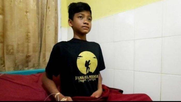 Muhammad Gibran Arrasyid menjalani perawatan di Puskesmas Tarogong setelah ditemukan pada Jumat (24/9/2021).