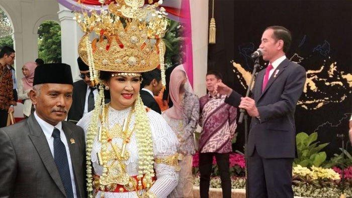 Dandan 3,5 Tampil dengan Mahkota Raksasa di Upacara HUT RI ke74, Istri Menhan Dapat Kado dari Jokowi