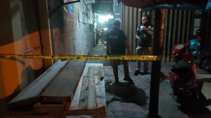 Lokasi penembakan terhadap Ustadz Armand oleh orang tidak dikenal. Salah satu pelaku mengenakan atribut ojek online di Kecamatan Pinang, Kota Tangerang pada Sabtu (18/9/2021)