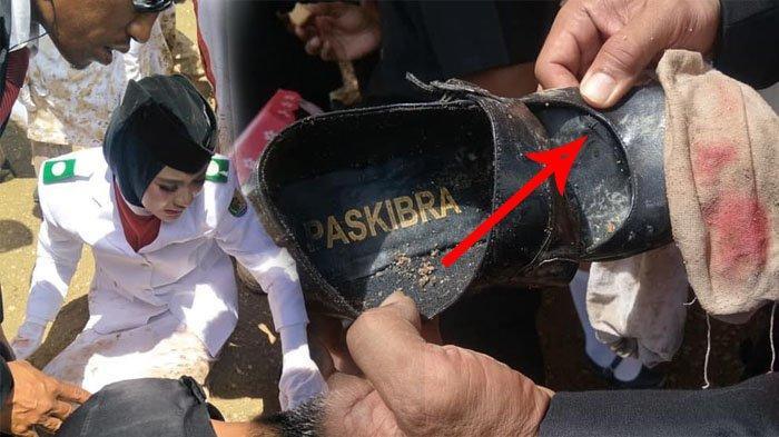 Viral Perjuangan Paskibraka Morowali Utara, Baju Penuh Lumpur, Kaki Pembawa Baki Tertusuk Paku 7 cm