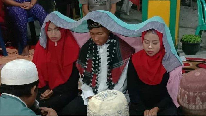 Viral Pernikahan Seorang Pria dengan Dua Kekasihnya Sekaligus, Beri Mahar 10 Ribu Rupiah!