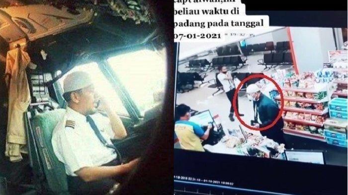 Belum Teridentifikasi, Captain Afwan Terekam CCTV Belanja di Minimarket, Traktir Teman Sebelum Jatuh