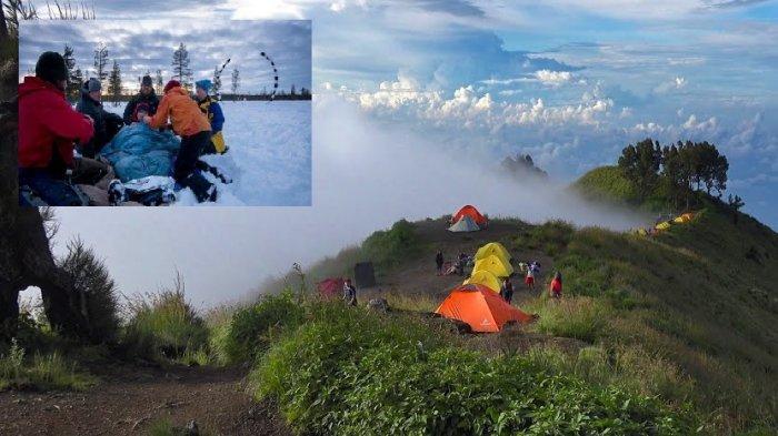Detik-detik Pendaki Gunung Rinjani Tewas Terpeleset ke Jurang saat Rayakan Ulang Tahunnya