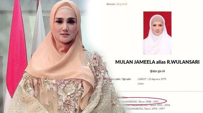 Kejanggalan Riwayat Pendidikan Mulan Jameela di Web DPR RI Kembali Disorot, SD Cuma 3 Tahun?
