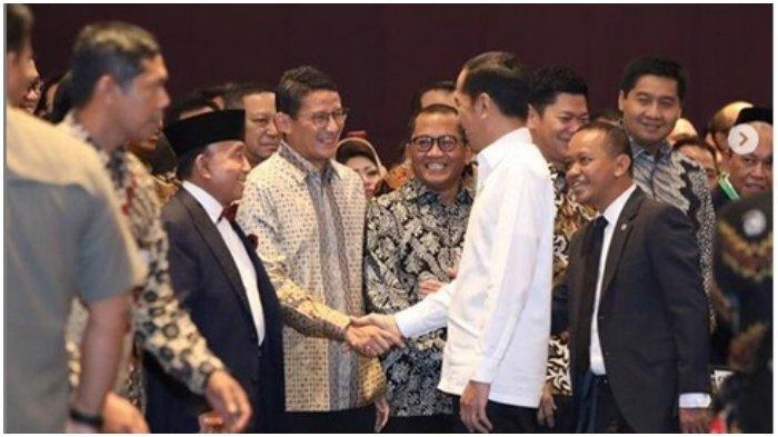 Reaksi Sandiaga Uno Saat Disebut Presiden Jokowi Akan Menang Pilpres 2024