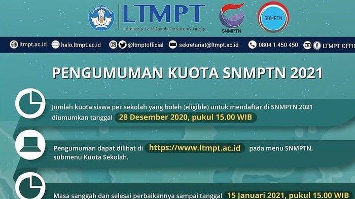 Link Lengkap Pengumuman SNMPTN 2021 UI, UGM, UNDIP, UNAIR, ITB, ITS, Besok Dibuka Pukul 15.00 WIB