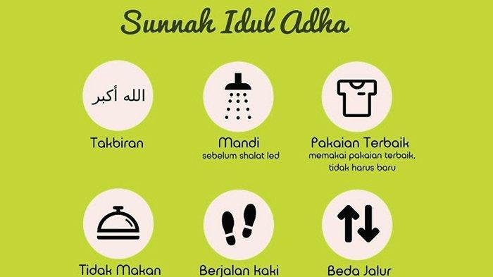 6 Amalan Sunah Sholat Ied Idul Adha 1442 H, Termasuk untuk Wanita Haid, Beda dengan Idul Fitri