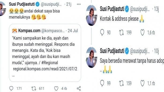 Susi Pudjiastuti ingin merawat Vino.