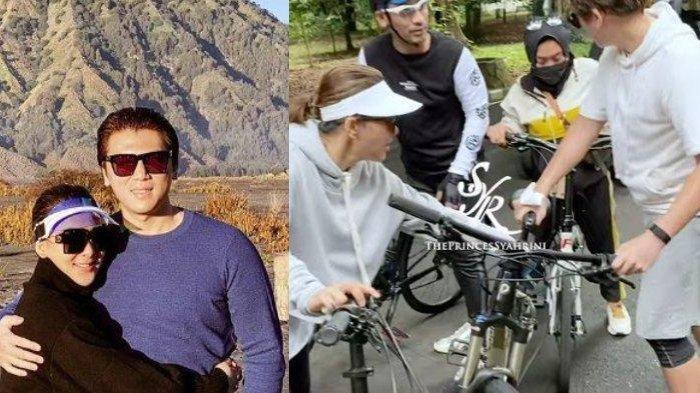 Reino Barack Jatuh Saat Bersepeda Keliling Istana Bogor, Syahrini Pamerkan Luka Kaki Suaminya