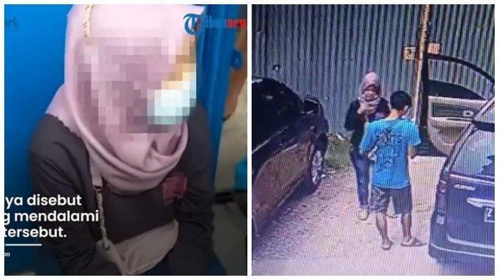 Tangkap layar video viral detik-detik seorang wanita buang bayinya di Bekasi.