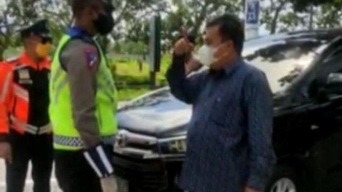 Tangkapan layar video Anggota DPR D NTB debat dengan Polisi