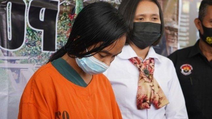 Tersangka NKA (24) yang nekad merekayasa sebuah kasus perampokan