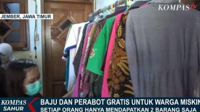 Toko 'Sharing Caring' di Jember Sediakan Baju & Perabotan Gratis bagi Warga Miskin, Bebas Pilih