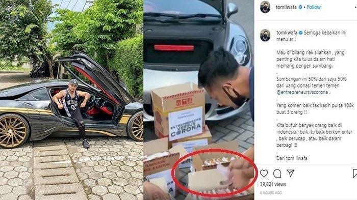 Balas Ferdian Paleka, Crazy Rich Surabaya Bagikan Kardus Sembako Isi Uang Jutaan : Saya Pernah Susah