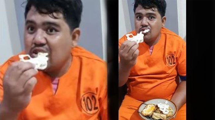Video Viral 'Boboho' Pembunuh & Pembakar Wanita di Banyuwangi Asyik Makan Kerupuk, Senyum Bangga