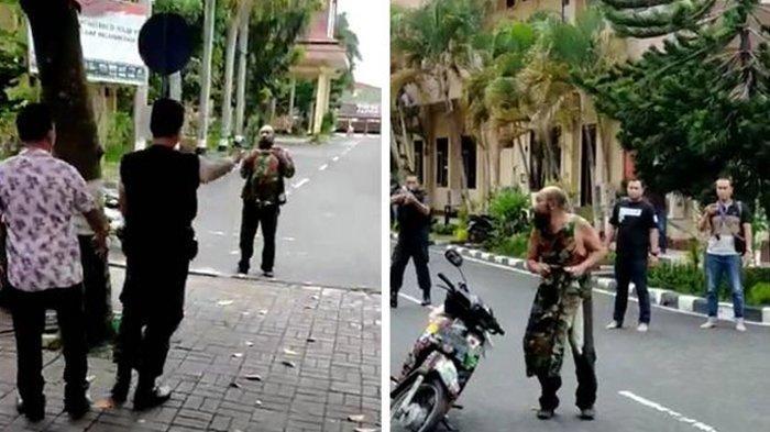 Viral Pria Ngotot Tembus Penjagaan di Mapolda NTB, Sampai Buat Polisi Beri Tembakan Peringatan