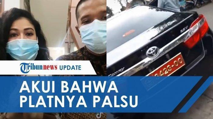 Viral Video Wanita Pamer Mobil Dinas Tentara, Ternyata Pelat Nomornya Palsu, Kasuspen TNI: 'Bodong'