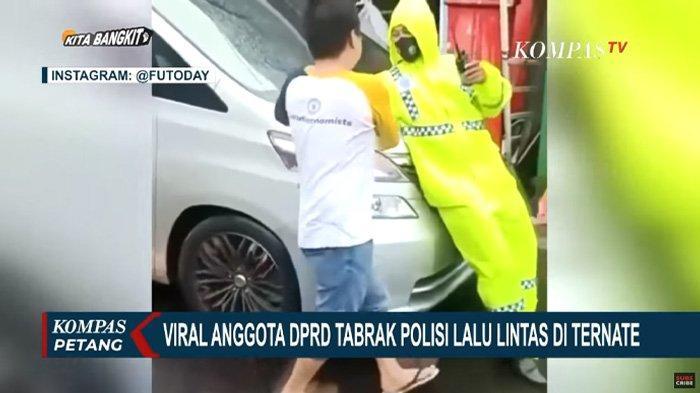 Viral Video Anggota DPRD Maluku Utara Tabrak Polisi, Ditindak Karena Parkir Liar dan Sebabkan Macet