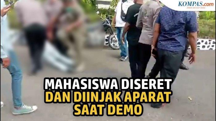Viral Video Mahasiswa Diseret Saat Demo, Polisi: 'Tidak Diinjak, Dia Kami Pisahkan untuk Diamankan'