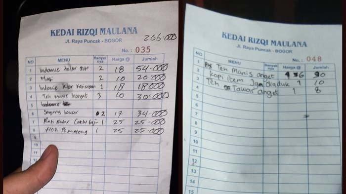 Viral Nota Makan 2 Mi Instan Rp 54 Ribu di Puncak Bogor, Pemilik Berdalih Karyawan Salah Hitung