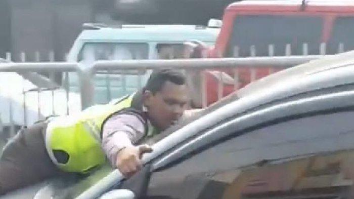 Cerita Bripka Eka yang Terseret Sampai 200 Meter di atas Kap Mobil, Pengemudi Bisa Terancam Hukuman